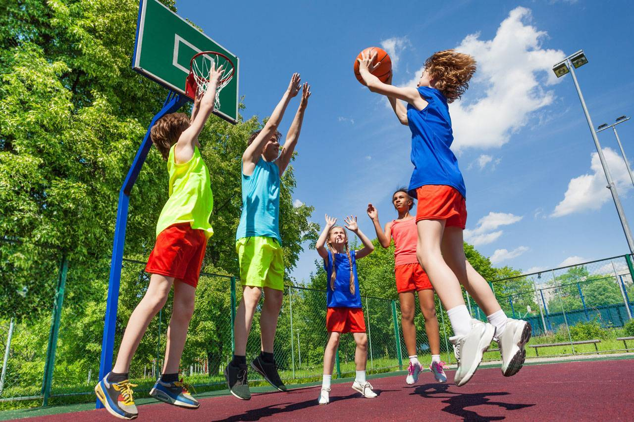 sports team kids basketball